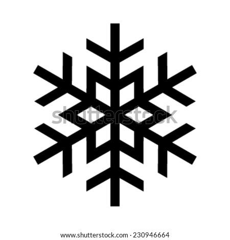 snowflake vector icon stock vector 230946664 shutterstock rh shutterstock com vector snowflake background free vector snowflakes free download