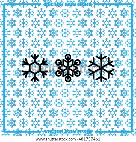 snowflake vector illustration EPS 10.