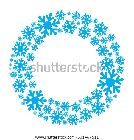 Snowflake wreath vector