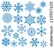 Snowflake Vectors - stock photo