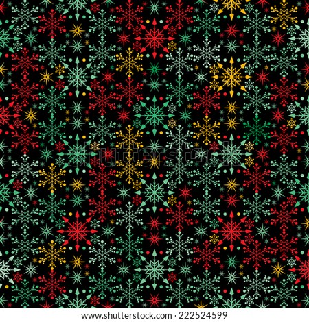Snowflake Winter Abstract Background - stock vector