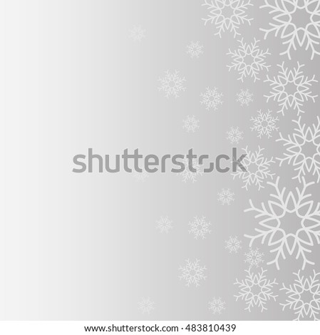 snowflake winter cold merry christmas snowfall frozen icon. Grey background. Vector illustration