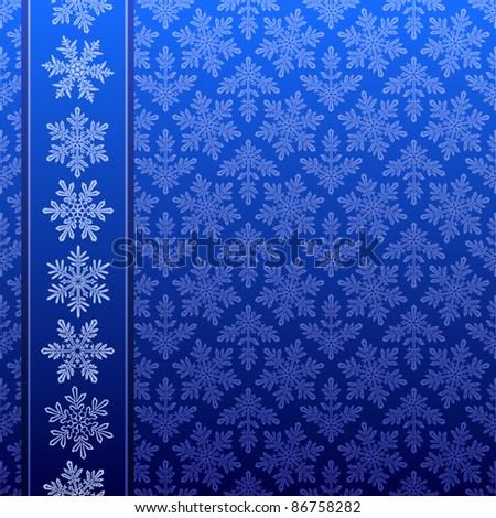Snowflake winter pattern - stock vector
