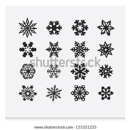 Snowflake winter set (vector ) 2 - stock vector