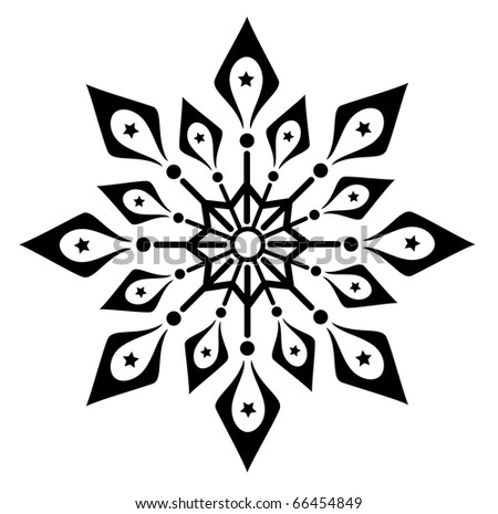 Snowflake winter vector illustration - stock vector