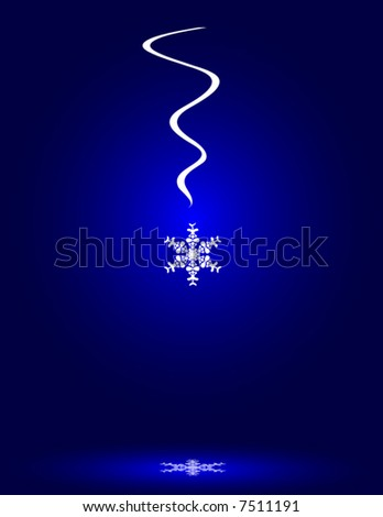 Snowflake with reflection vector - stock vector