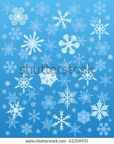 Snowflakes background winter. Vector illustration - stock vector