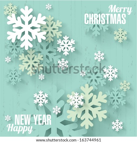 Snowflakes. Christmas and new year vector design. - stock vector