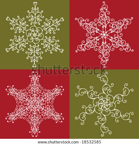 Snowflakes collection 1 - stock vector