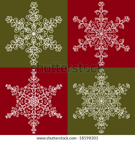 Snowflakes collection 2 - stock vector
