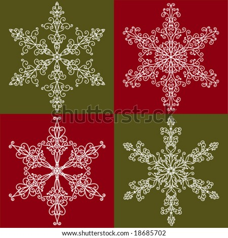 Snowflakes collection 4 - stock vector