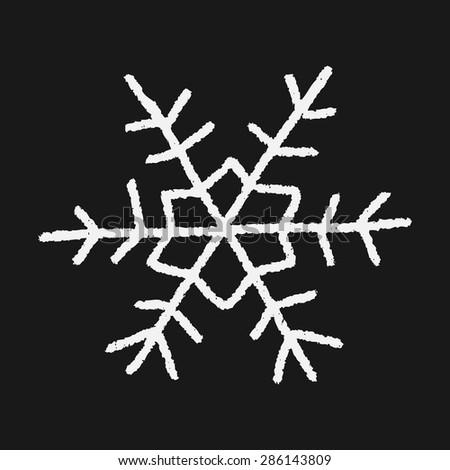snowflakes doodle
