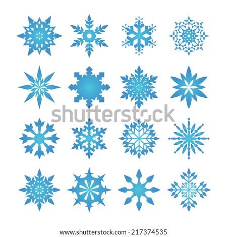 Snowflakes Icon - stock vector