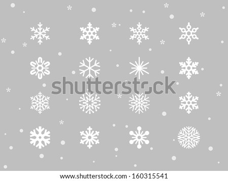 Snowflakes icons - stock vector