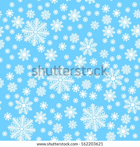 Snowflakes on triangles - Christmas background - stock vector
