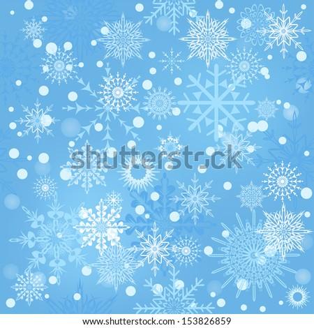 Snowflakes seamless - stock vector
