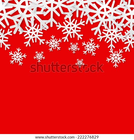 Snowflakes seamless border. Christmas holiday background. Sale banner. Texture for wallpaper, web site background, brochure, catalog, flyer, booklet - stock vector