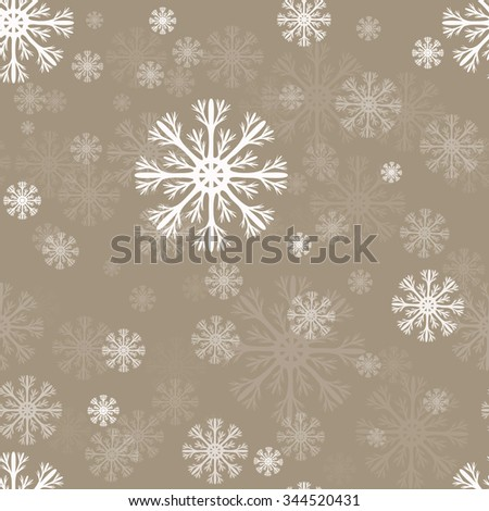 Snowflakes seamless vector pattern. - stock vector