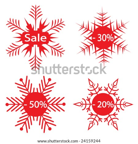 Snowflakes - the sale announcement. Vector illustration - stock vector