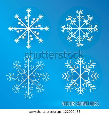 Snowflakes. Vector Icy Illustration.