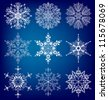 Snowflakes.  Vector  set eps 10. - stock vector