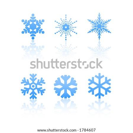 Snowflakes 02 (Vectors 80) - stock vector
