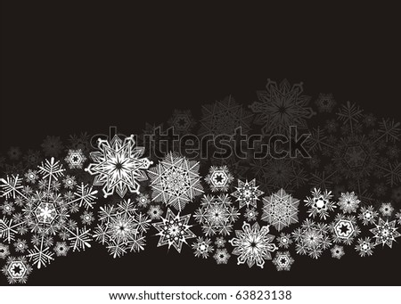 snowflakes wave in vector format very easy to edit, individual objects - stock vector