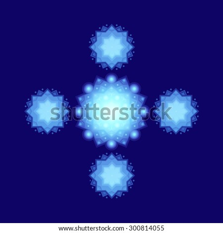 Snowflakes winter blue for Christmas design. vector illustration - stock vector