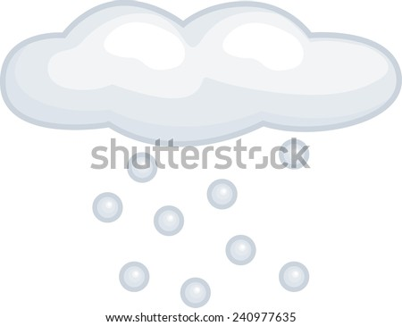 snowing cloud - stock vector