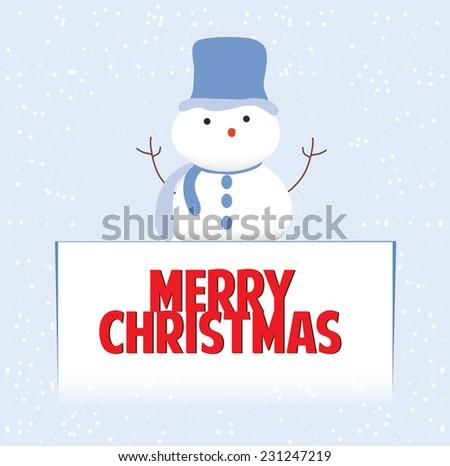 Snowman christmas - stock vector