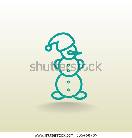 snowman icon - stock vector