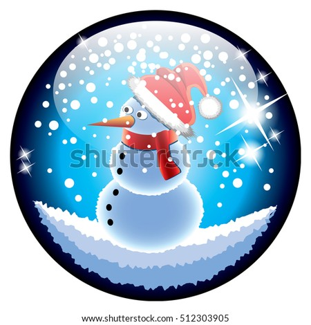 Snowman Snow Globe Snowglobe Happy Snowman Family Under