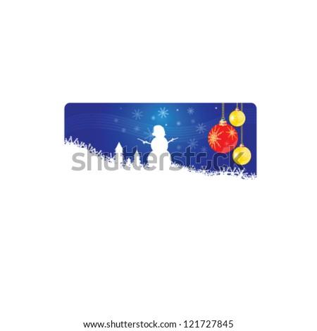 snowman new 2013 year vector illustration - stock vector