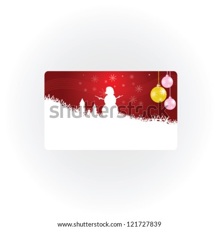 snowman new 2013 year vector illustration part one - stock vector