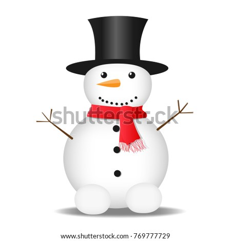 snowman on the background. New Year. Christmas. vector illustration