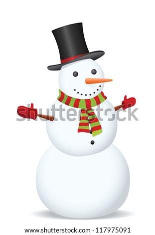 Snowman. Vector illustration - stock vector