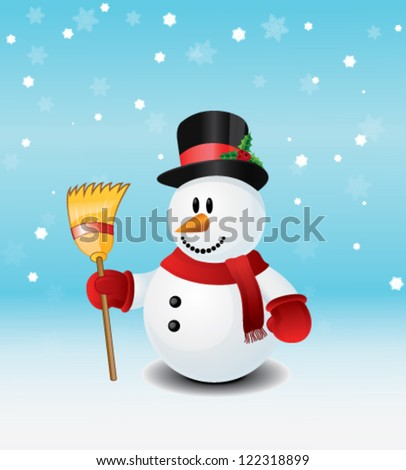 Snowman Vector Illustration - stock vector