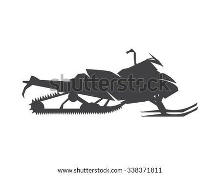 snowmobile - stock vector