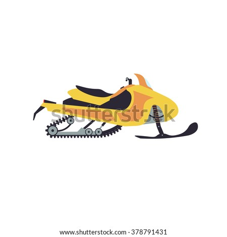 Snowmobile vector illustration isolated on white background - stock vector