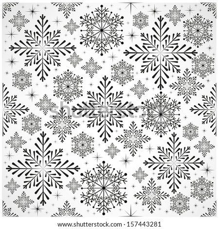 Snowy Christmas background  - stock vector