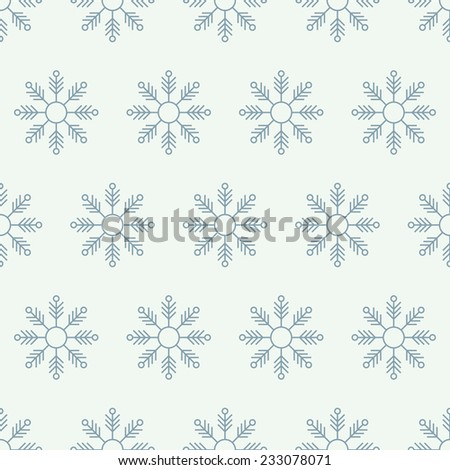 snowy christmas seamless background - stock vector