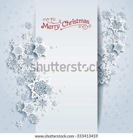 Snowy winter card. Holiday design for card, banner, invitation, leaflet and so on. - stock vector