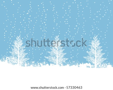 Snowy winter Christmas scene