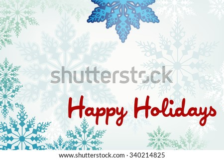 Snowy winter frame holiday message  - stock vector