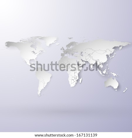 snowy world map vector background