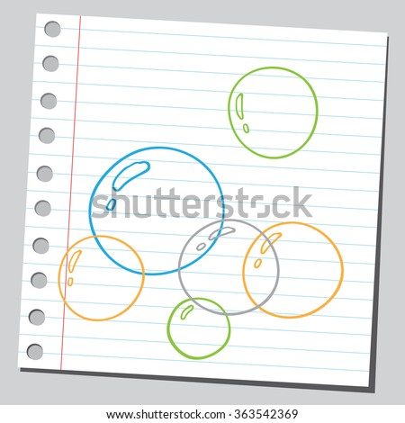 Soap bubbles - stock vector