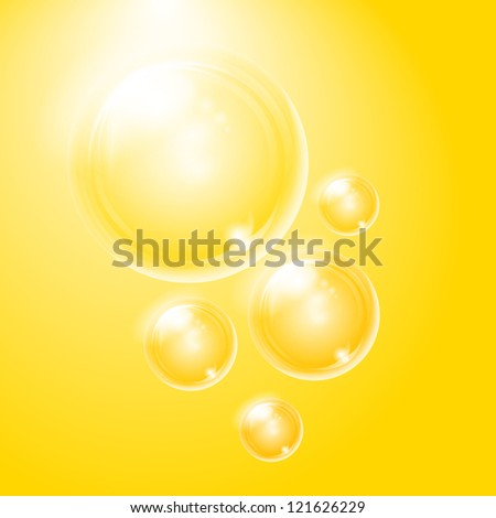 Soap bubbles. Background can be easy changed. - stock vector