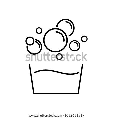 soap bubbles icon vector stock vector 1032681517