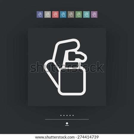 Soap dispenser - stock vector
