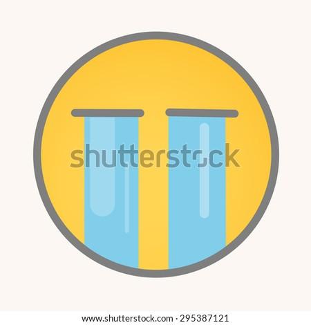 Sobbing - Cartoon Smiley Vector Face - stock vector